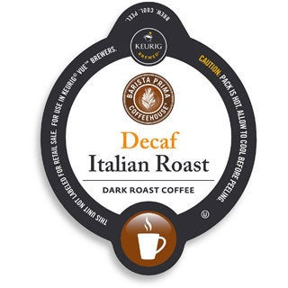 Barista Prima Decaf Italian Roast Coffee for Keurig Brewers (96 K-Cups)