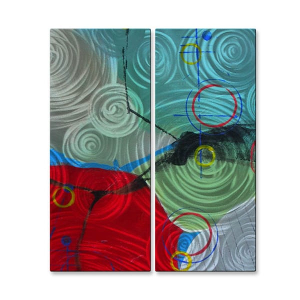 Judy Jacobs 'Twists And Turns' Wall Metal Art