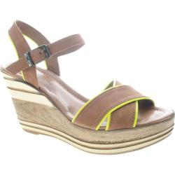 Women's Azura Impulse Brown/Yellow Leather
