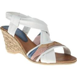 Women's Azura Velda White Multi Leather