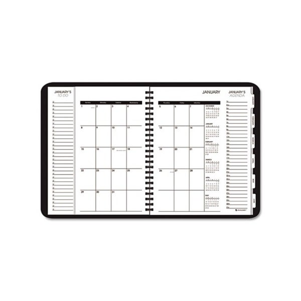 2015 Triple View Weekly/Monthly Black Appointment Book (6 7/8 x 8 3/4)