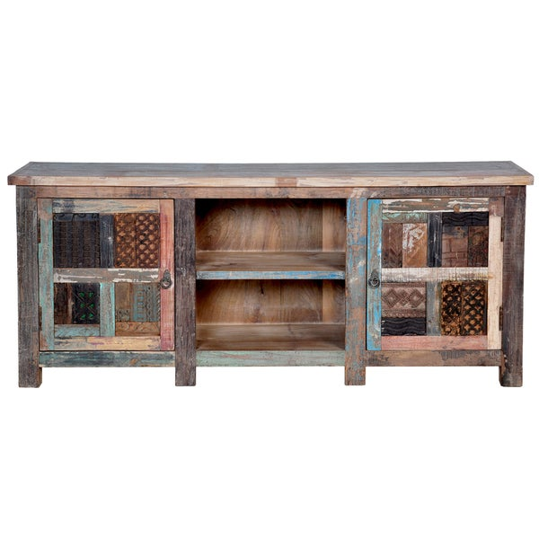 Vintage Print Block 60-inch TV Cabinet