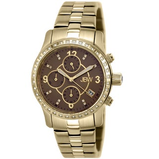 JBW Women's 'Novella' Gold-Plated Stainless Steel Chronograph Watch