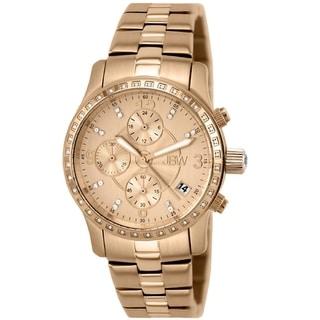 JBW Women's 'Novella' 18K Rosegold-Plated Steel Chronograph Watch