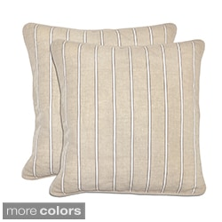 Bella Textured Linen Stripe Throw Pillows (Set of 2)