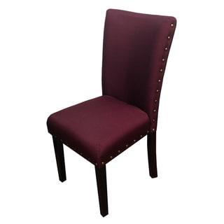 Purple Nail Head Design Parson Dining Chairs (Set of 2)