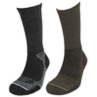Men's Lightweight Merino Wool Hiker Socks (Pack of 2)