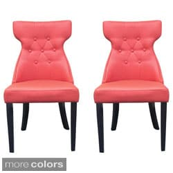 Elegant Faux Leather Parson Dining Chair (Set of 2)