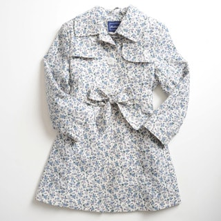 Rothschild Girls Mini Floral Button-Front Breathable Trench Coat