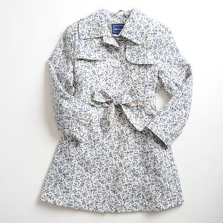 Rothschild Girls Mini Floral Breathable Trench Coat