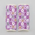 Augusta Baby Purple Flower Reversible Car Seat Belt Strap Cover