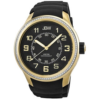 JBW Men's 'Vostok' Gold-plated Diamond-accented Watch