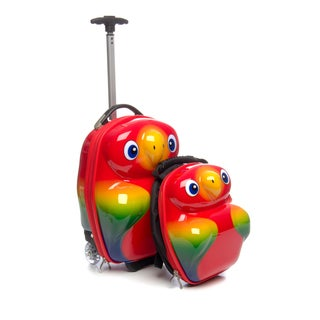 Travel Buddies 'Popo Parrot' 2-Piece Hardside Kids' Carry On Luggage Set