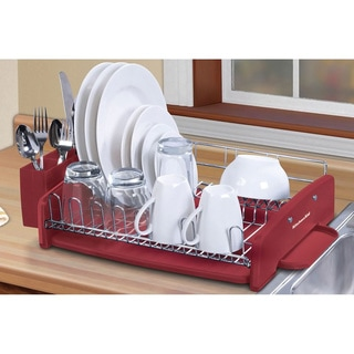 KitchenAid 3-piece Red Dish Drying Rack