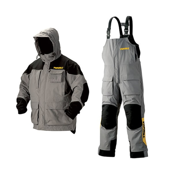 Frabill grey ice fishing suit 15133360 for Best ice fishing bibs