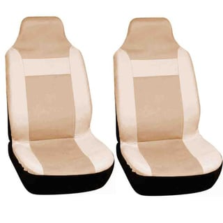 Integrated Solid Tan Bucket Seat Covers