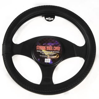 Braids Grip Black Steering Wheel Cover