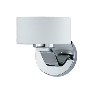 Solstice 1-light Chrome and White Opal Glass Wall Sconce