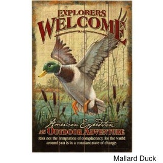 American Expedition Wooden Welcome Sign