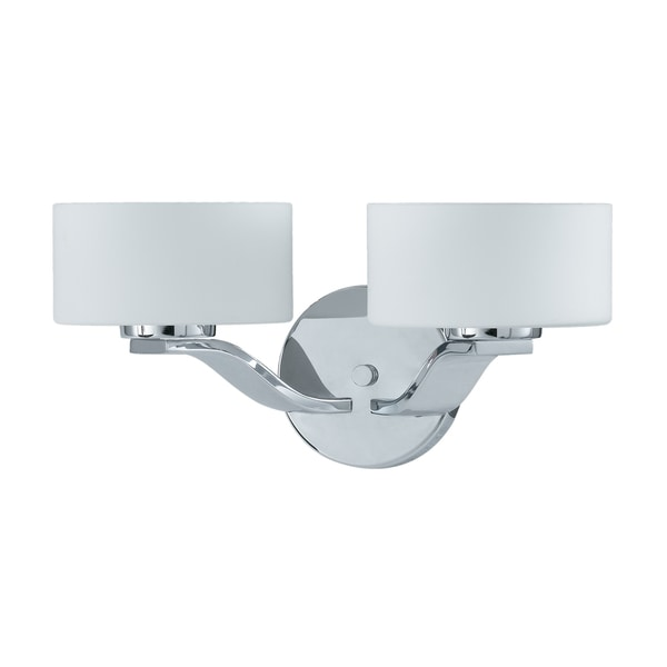 Solstice 2-light Chrome and Opal Glass Wall Sconce