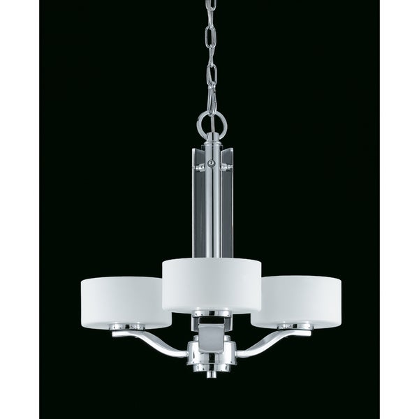 Solstice Chrome Finish 3-light Chandelier