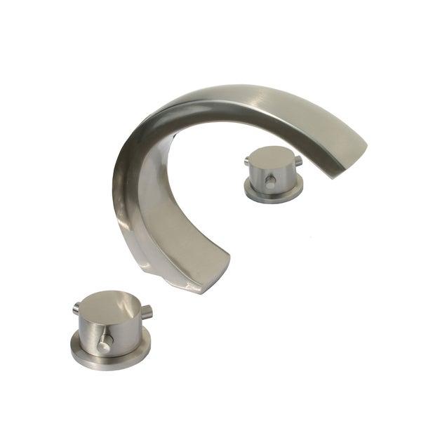 Kokols Wide Spread Bathroom Sink Tub Waterfall Brushed Nickel Faucet 15133