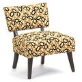 Frisbee Cardinal Ebony Accent Chair