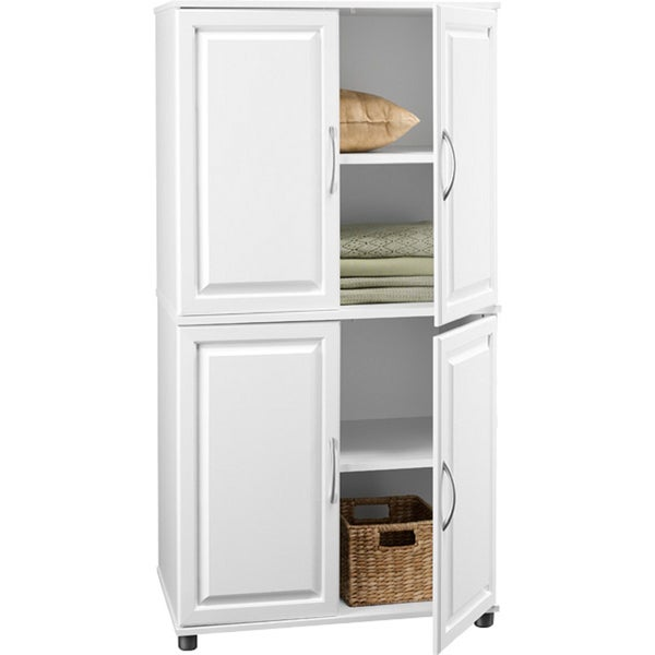 Door 3 Shelf Storage Cabinet Kitchen Bath Room Linen Home Corner Floor