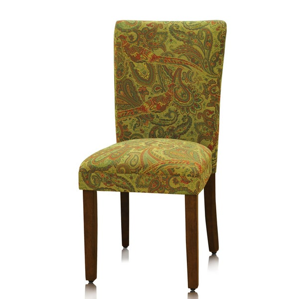 homepop peacock paisley parson dining chair set 2 overstock