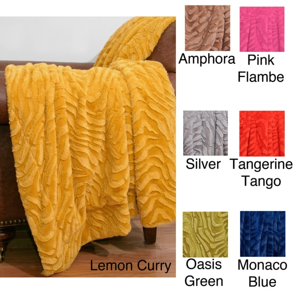 50 x 60-inch Sculpted Ashton Faux Fur Throw