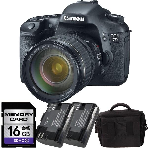 Canon EOS SLR 7D DSLR Camera with 18-135mm Bundle
