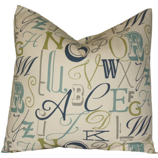 Taylor Marie Fancy Alphabet ABC Throw Pillow Cover