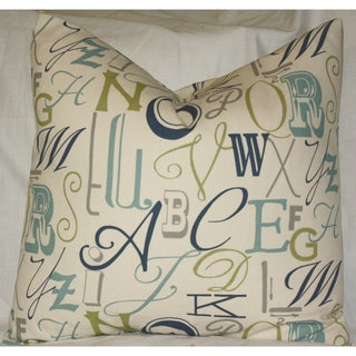 Taylor Marie Fancy Alphabet ABC Throw Pillow Cover