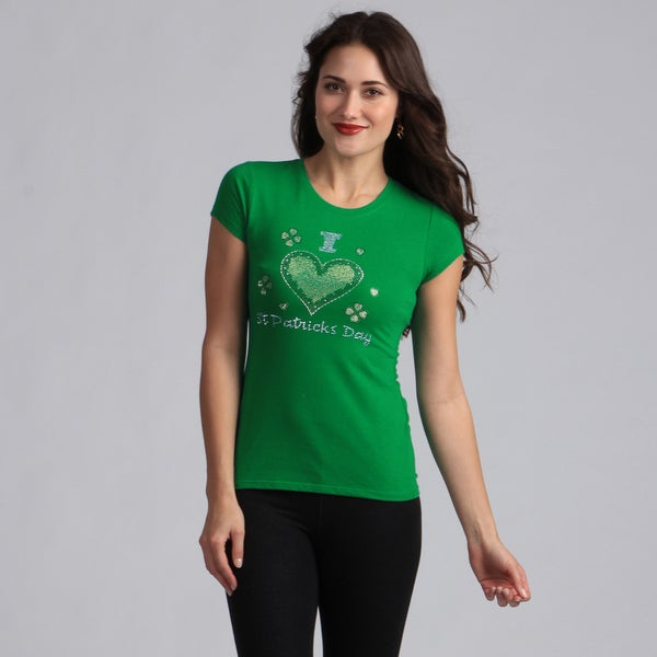 Women's Green 'I Love St. Patricks Day' T-shirt