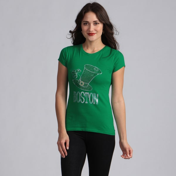 Women's Green Irish Top Hat T-shirt