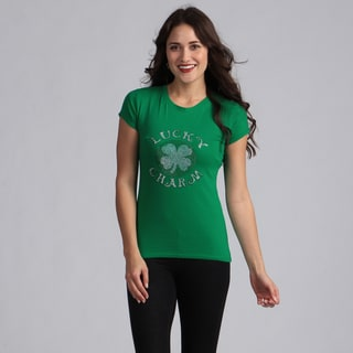 Women's Green 'Lucky Charm' T-shirt