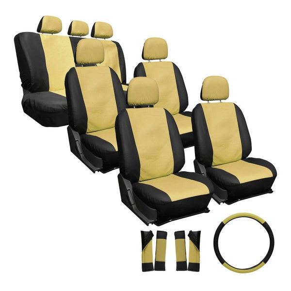 Oxgord Synthetic Faux Leather 23-piece Truck and Van Seat Covers 10667323