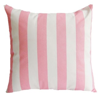 Taylor Marie Decorative Baby Pink Canopy Stripe Throw Pillow Cover