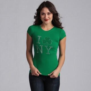 Women's Green 'I Shamrock NY' T-shirt