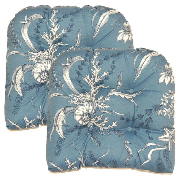 By the Sea Blue Outdoor Cushions (Set of 2)