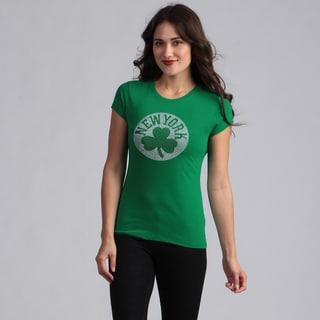 Women's Green 'New York Shamrock' T-shirt