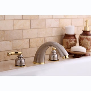 Satin Nickel/ Polished Brass Roman Tub Filler