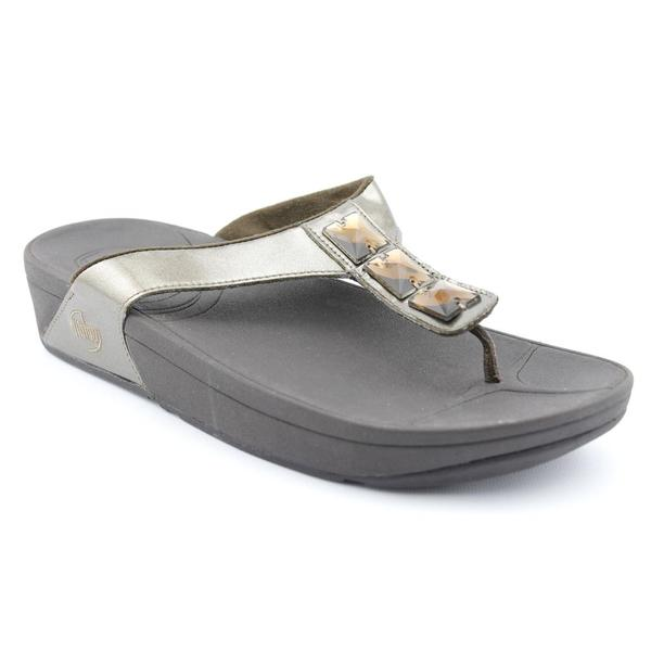 FitFlop Women's 'Pietra ' Synthetic Sandals (Size 10)