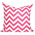 Taylor Marie Studio Candy Pink and White Zig Zag Chevron Throw Pillow Cover