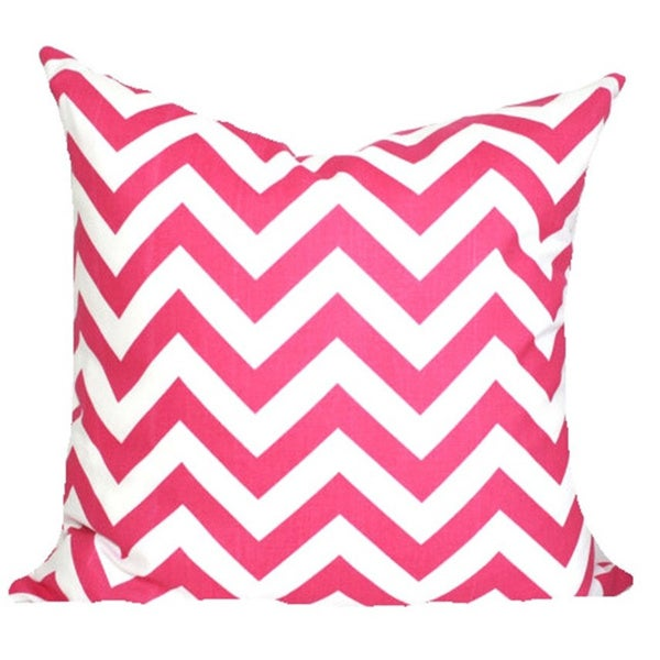 Taylor Marie Candy Pink Chevron Pillow Cover