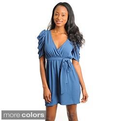 Stanzino Women's V-neck Chiffon Dress