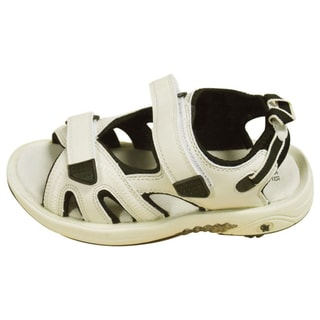 Oregon Mudders Women's Beige/Black Spiked Golf Sandals