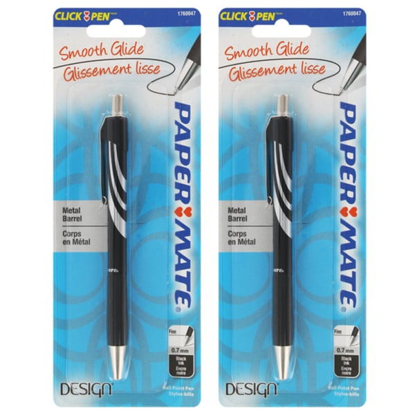 Paper Mate Design Retractable Ballpoint Pens (Pack of 2)