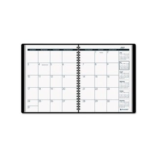 2012-2013 Recycled Monthly Black Academic Planner (6 7/8 x 8 3/4)
