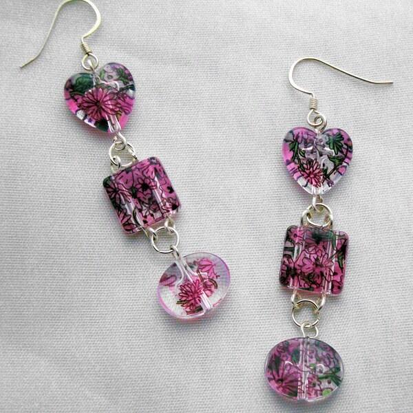 Floral Print Earrings